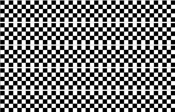 Checker Stripes waterproof Vinyl Sticker vehicle decal Black/White